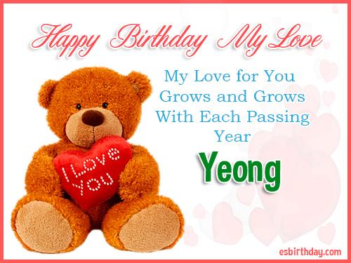 Yeong Happy Birthday My Love