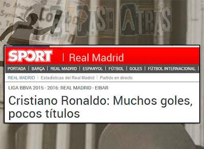 la prensa del Barcelona y Cristiano Ronaldo en el BDO