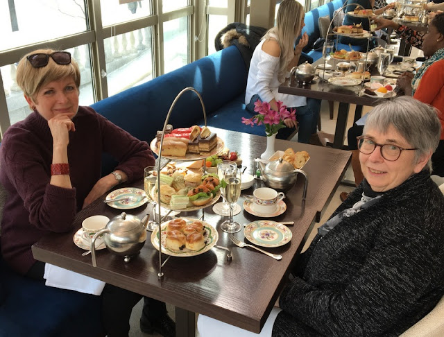 two ladies at afternoon tea