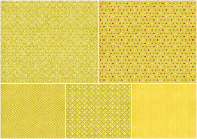 Papers in Yellow of the Spring Easter Clip Art.
