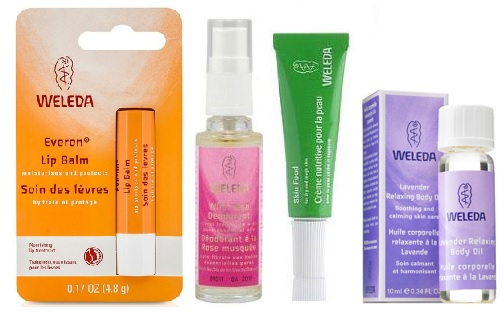 Your fave products sized to travel from Weleda, Avon Anew, Tweezerman and Sephora!