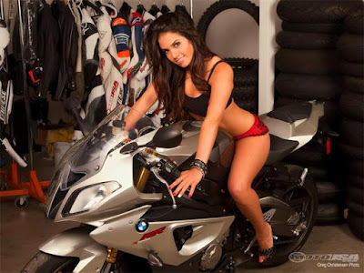 BMW S1000RR with Hot Girl model