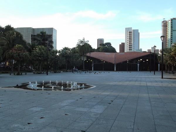 Praça Luíza Távora em Fortaleza (Foto: Aline Lima)