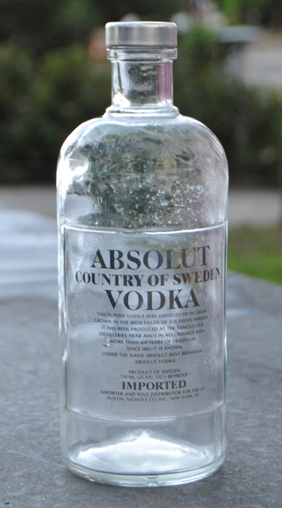 Absolut Vodka first bottle 1979