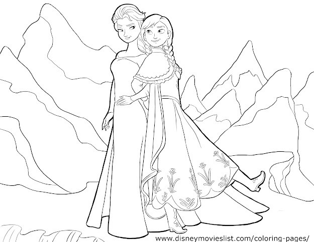 Disneys Frozen Coloring Pages Free Disney Printable Frozen Color Page