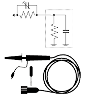Passive probes allow adjustment to their impedance to match a scope's input