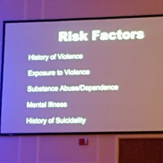 Slide with a list of 5 risk factors