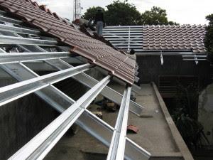 pondasi dengan baja ringan metode pelaksanaan pemasangan atap konstruksi sipil
