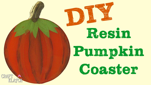 Pumpkin patch resin coaster project.