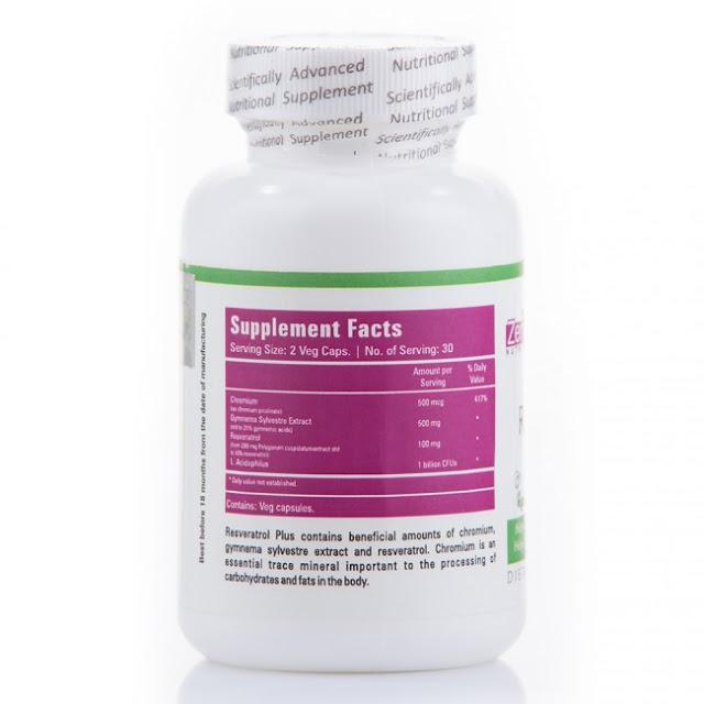 Zenith Resveratrol Plus With Gymnema Sylvestre Supplements