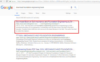 Google SERP for keyword Download Foundation Engineering Book
