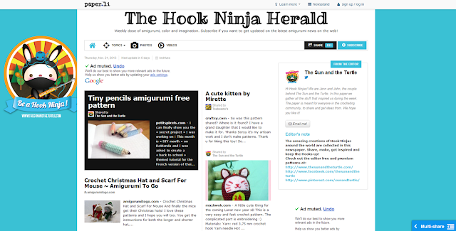 Subscribe to the Hook Ninja Herald and get updated on the latest Amigurumi news on the web!