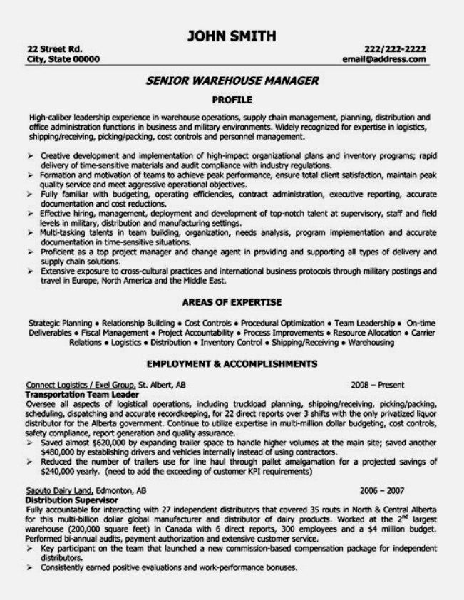 Logistics Inventory Manager Resume Examples Inventory Control  Warehouse Manager Resume