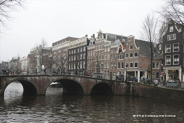 Bridge in a canal of Amsterdam