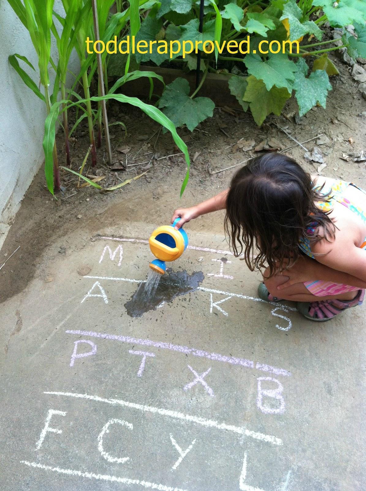 Toddler Approved Watering An Alphabet Garden