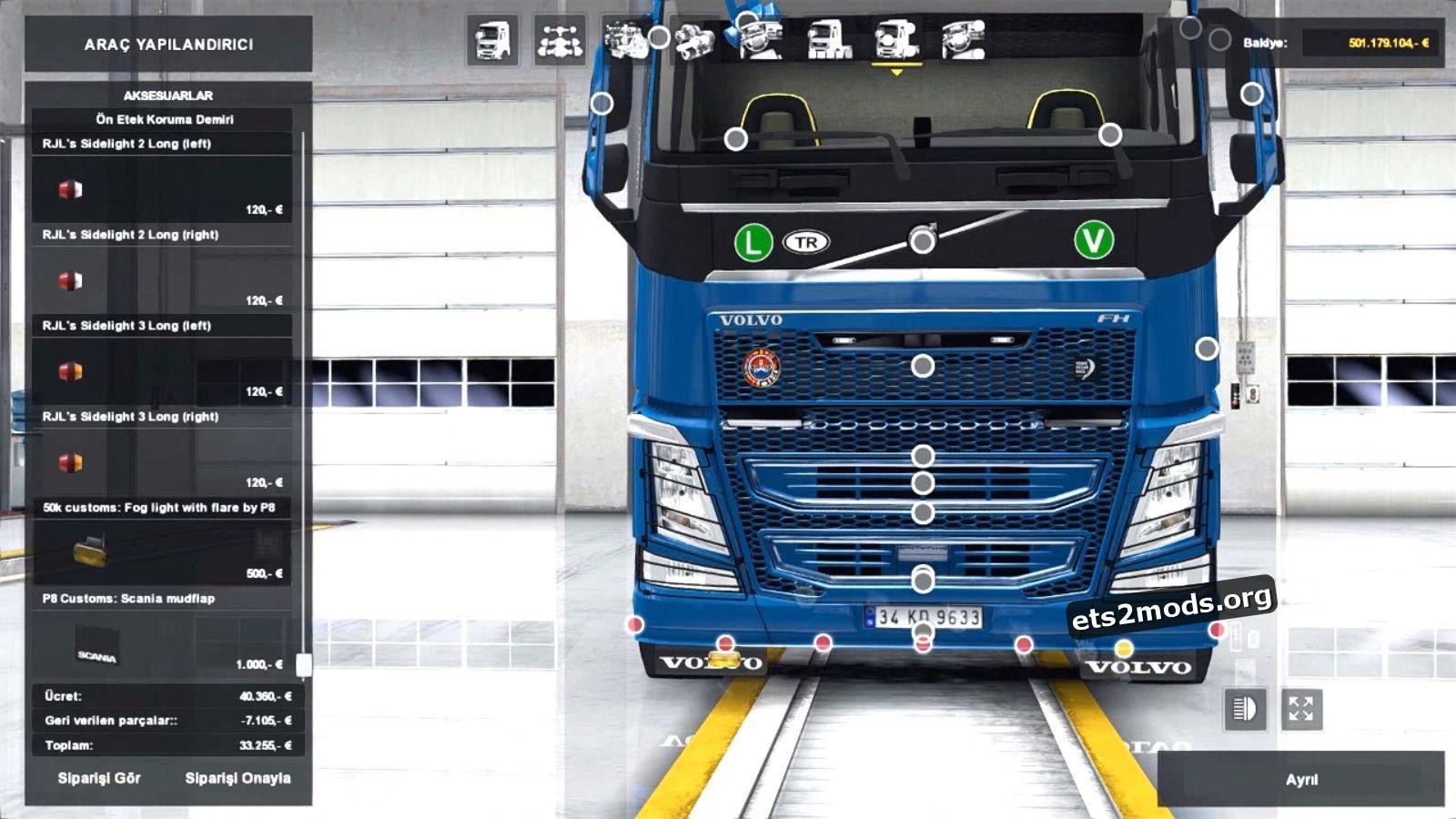 Accessories + Interior v 2.2 for New Volvo FH16