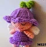 Patron gratis hada amigurumi, Free pattern amigurumi fairy