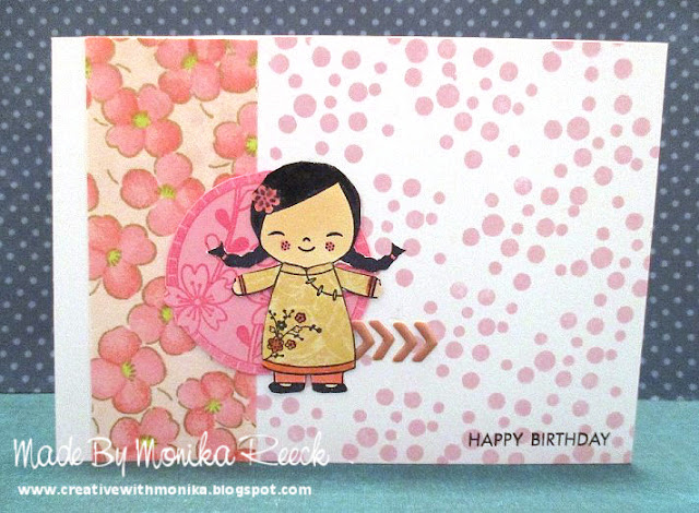 Creative With Monika Sunday Stamps 132birthday Card With