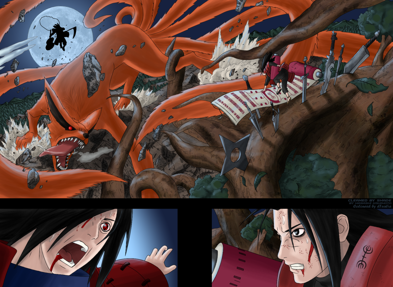 manga artist uchiha madara vs hashirama senju 1st hokage