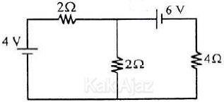 Rangkaian listrik dengan dua sumber tegangan, hukum II Kirchhoff