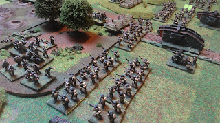 Combined arms face off against German defenders
