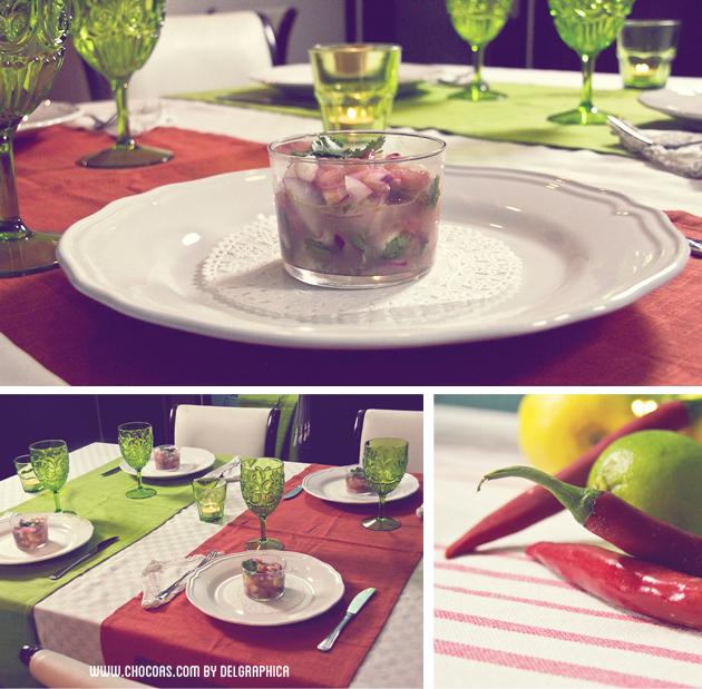 decoración mesa cena mejicana
