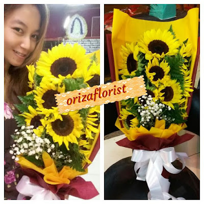 jual bunga matahari di surabaya, bunga tangan pengantin surabaya