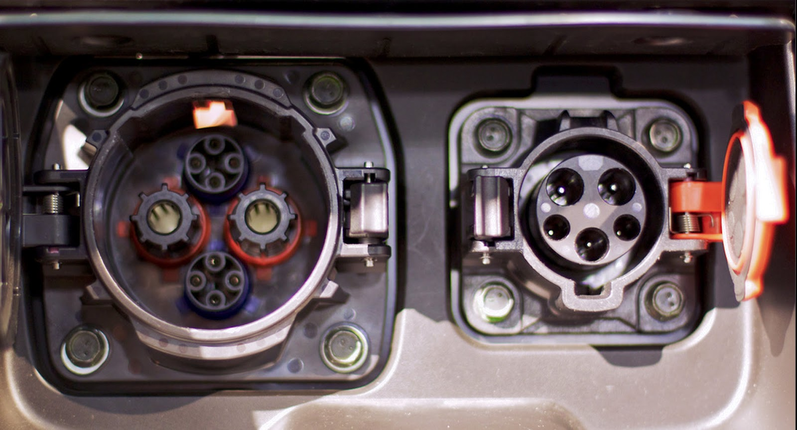 Cars with cords december 2012 nissan leaf charging ports chademo left j1772 right vanachro Choice Image