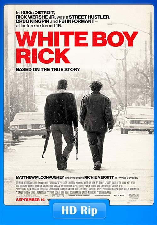 White Boy Rick 2018 English 720p BDRip x264 | 480p 300MB | 100MB HEVC
