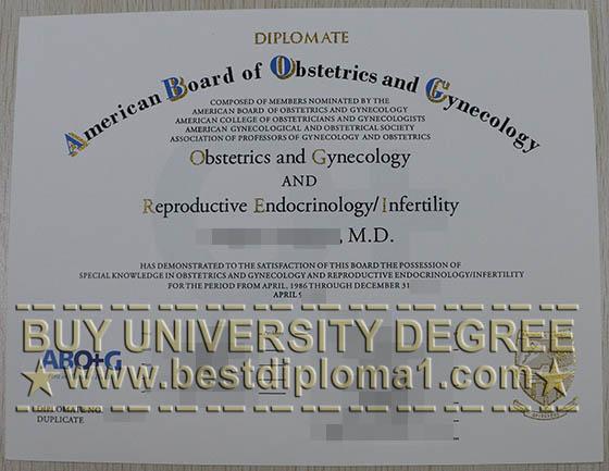 ABOG fake certificate