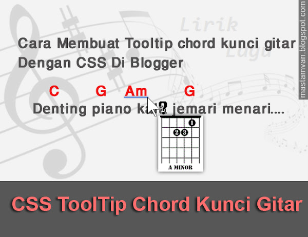 Cara Membuat Tooltip Chord Kunci Gitar Di Blog