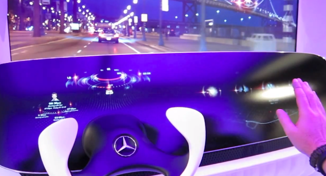 Mercedes-Benz Shows Off Concept Car Interior With HUD and Gesture Controls