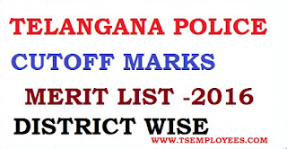 TS Police Cuttoff Marks Merit List  District Wise Telangana Police Conistable TSLPRB Cutoff Marks Merit List District Wise Adilabad Nizamabad Karimnagar Medak Warangal Rangareddy Khamam Nalgonda Mahaboobnagar FWE Result/ Final Cut off Category wise/ Score Cards/ Merit list/Finally select candidates list. TS LPRB is likely to declare the Constable (Civil/ AR/ SARCPL/ TSSP/ SPF/ Fireman) 23rd October 2016 FWE Examination result at the website of the Recruitment Board www.tslprb.in. The result announcement intimation would be displayed by TS Level Police Recruitment Board