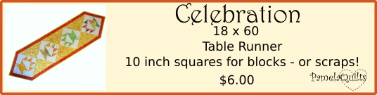 Celebration Table Runner Pattern