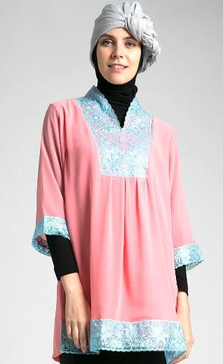 Desain Baju Hamil Muslim Kebaya Modern
