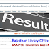 Rajasthan Library Officer Result 2016, Check RSMSSB Librarian Cut off