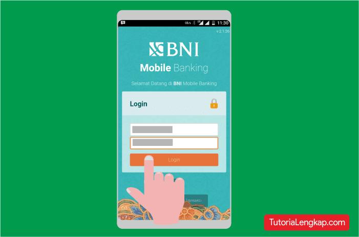 Cara Login ke akun Bni Mobile banking pada android