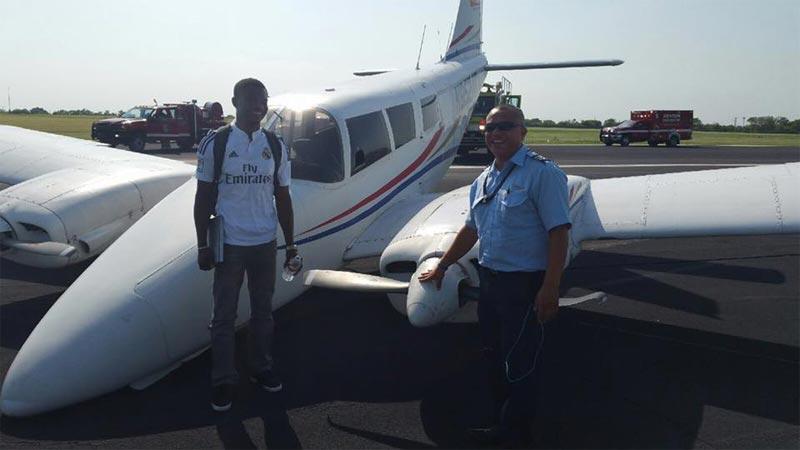 Nigerian pilot Patos Oghenevwede lands plane without front tyre