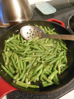 Green bean cobbler, fresh and delicious.