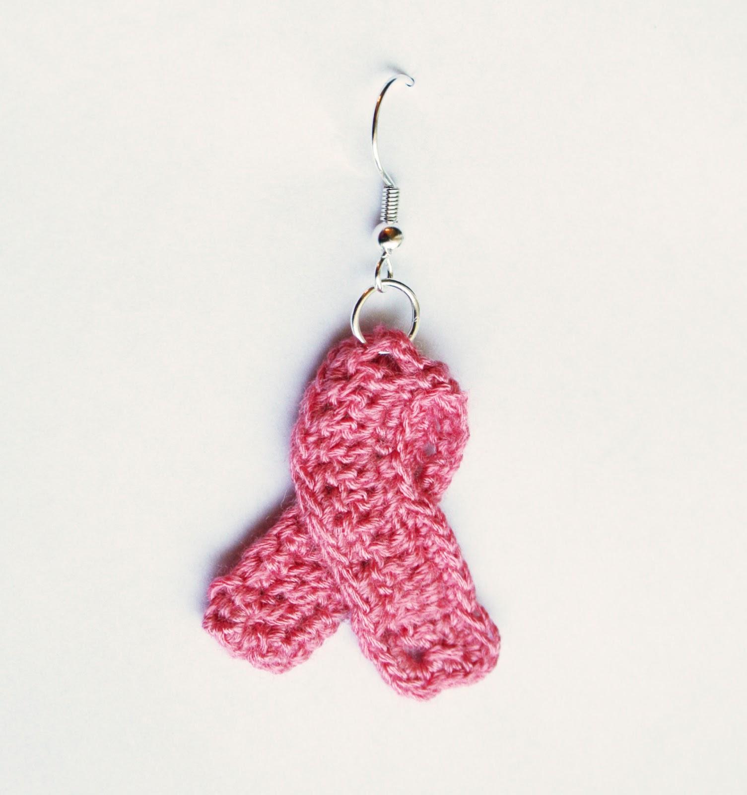 Tampa Bay Crochet: Free Crochet Pattern: Awareness Ribbon Earrings