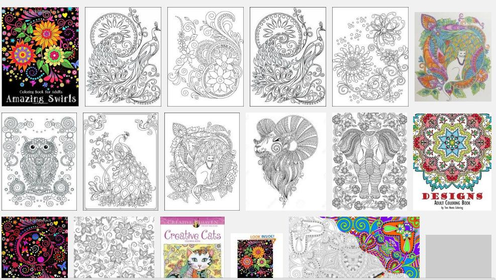 This Coloring Book For Adults Contains Swirls Style Illustrations Representing Various Animals And Floral Compositions The Twenty Four Designs Are Of