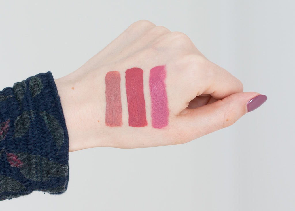 Blogparade Top 3 Herbst Lippenstifte Nyx Clinique KatVonD Swatches