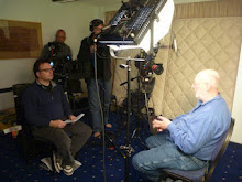 "Filming Brian Vike For ""Alien Mysteries""."