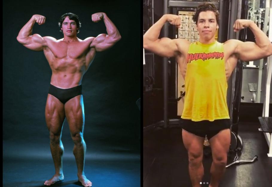 Arnold Schwarzenegger Son Joseph Baena Follow His Father ...