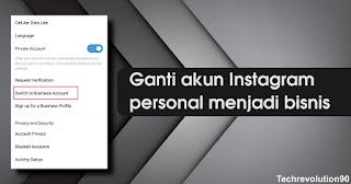 Mengganti Akun Instagram Personal ke Bisnis