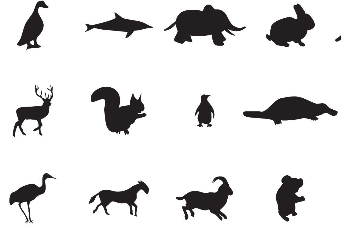 Dibujos de siluetas de animales   Imagenes y dibujos para imprimir