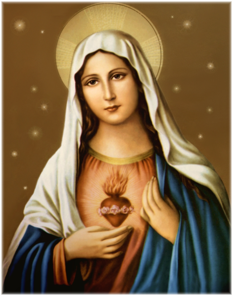 string of pearls blessed virgin mary pray for me