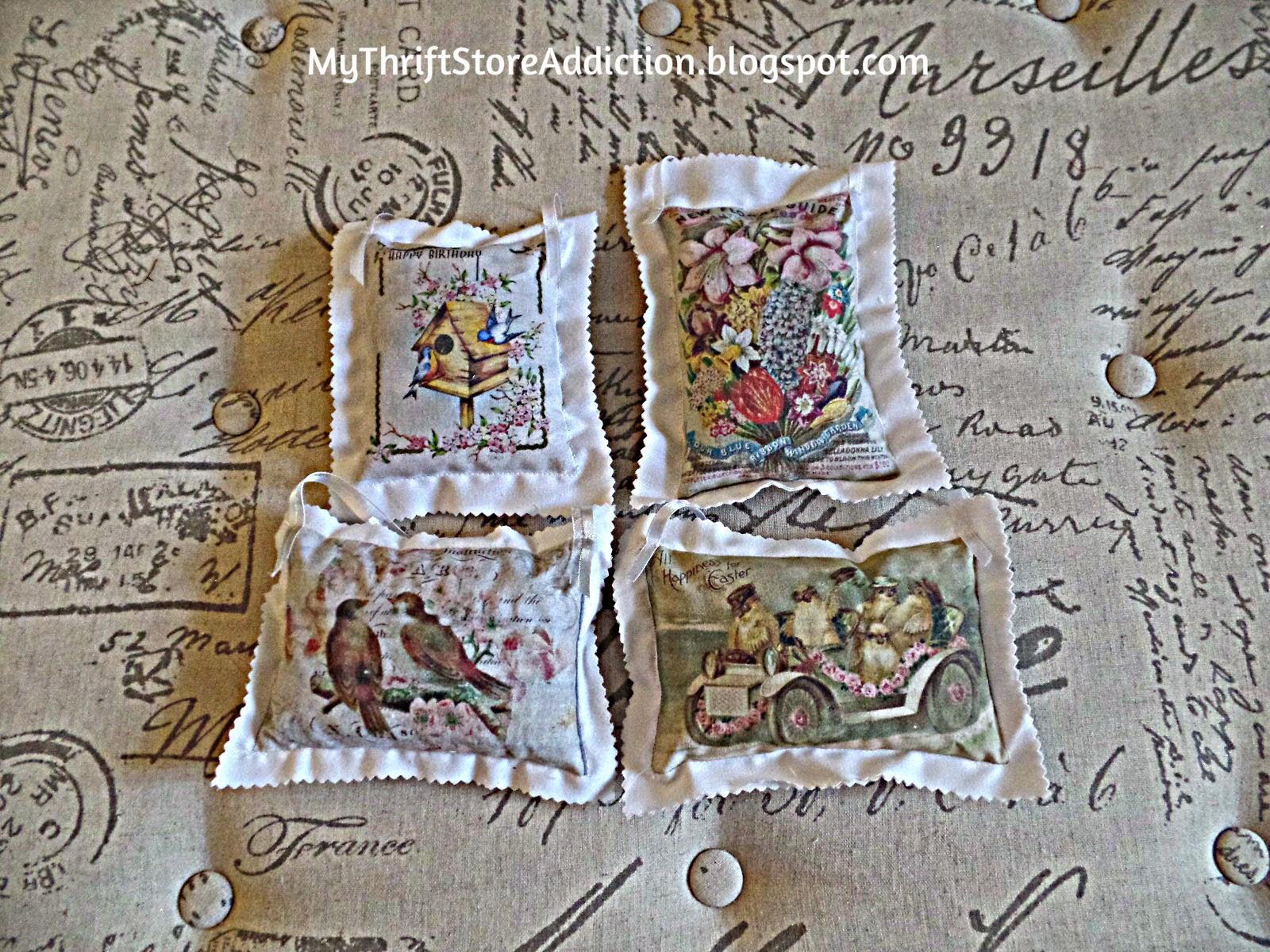 lavender postcard sachets