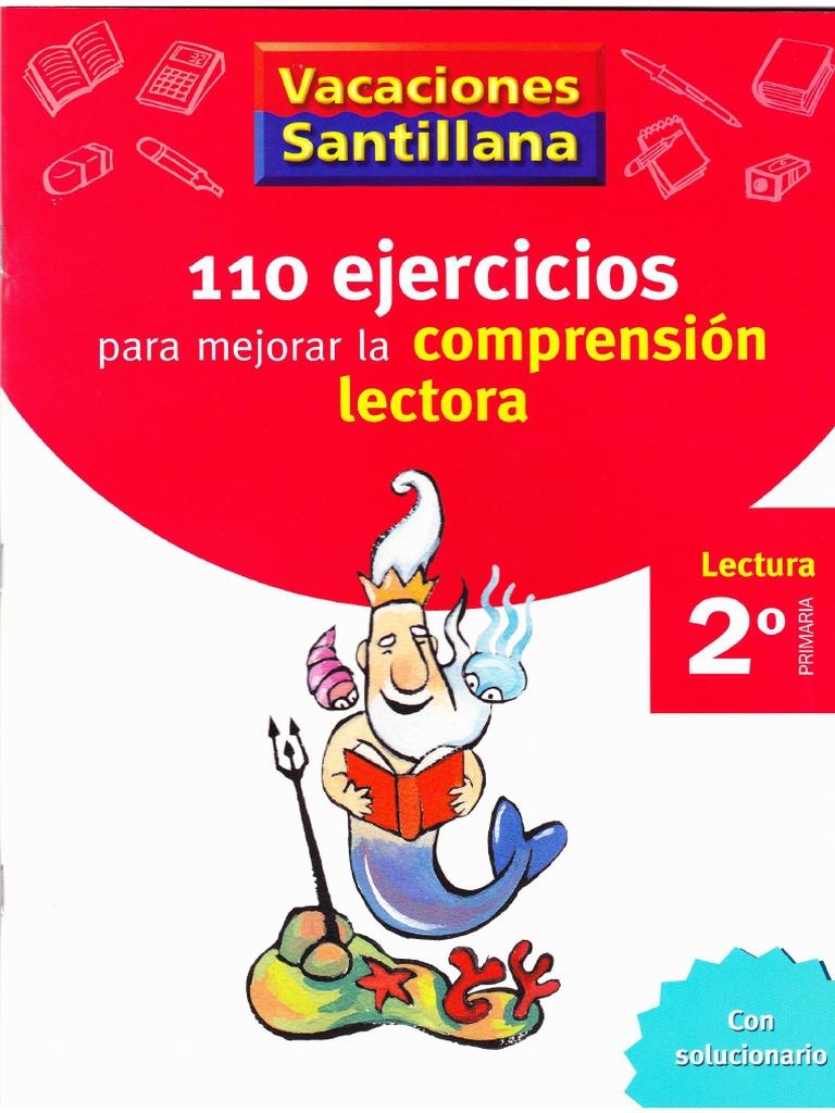 110 Ejercicios para mejorar la comprensión lectora, 2° de primaria