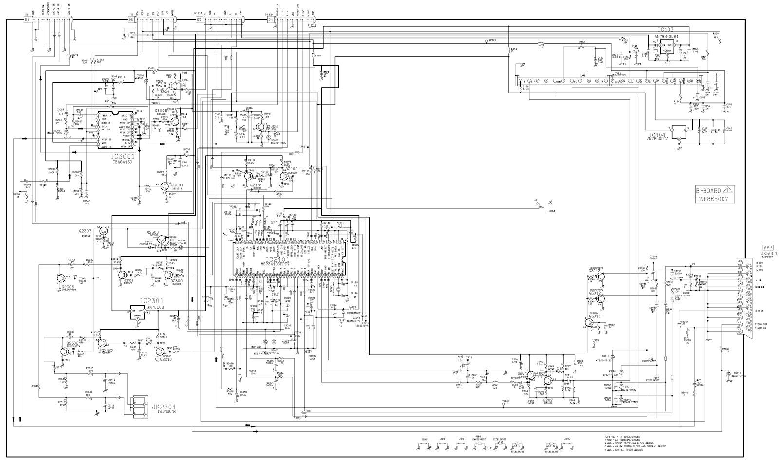 Master Electronics Repair Panasonic Tx 28ld2p Circuit